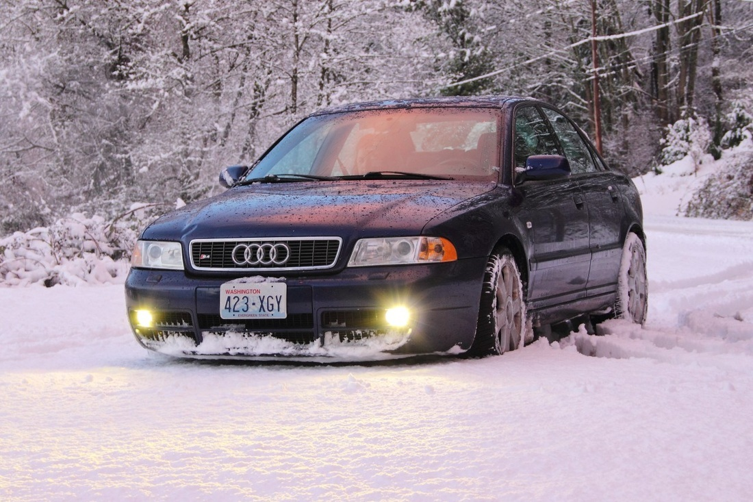 2001 Audi S4 in the Snow