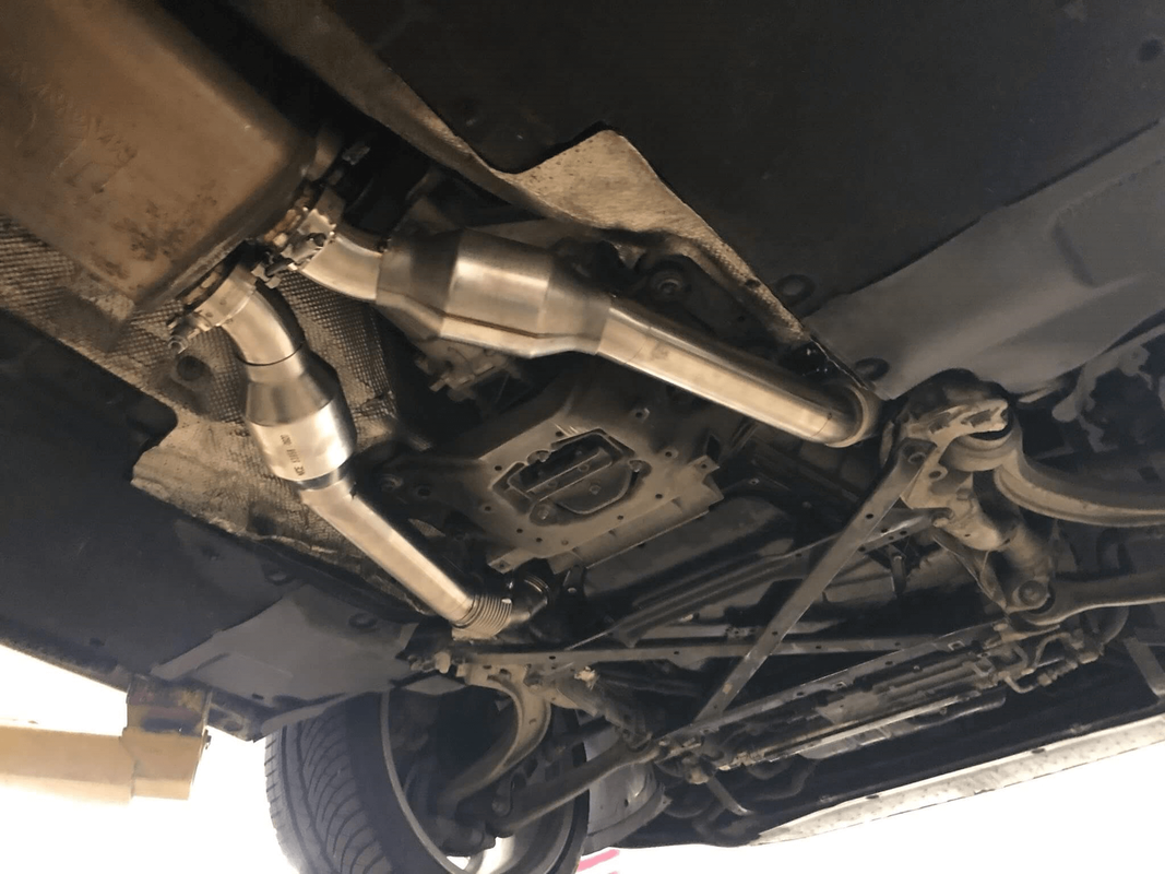 Down Pipes with Catalytic Converter - B8.5 Audi S4 (2013) - Made by Apex Performance and Fabrication (apexperformanceandfab.com)